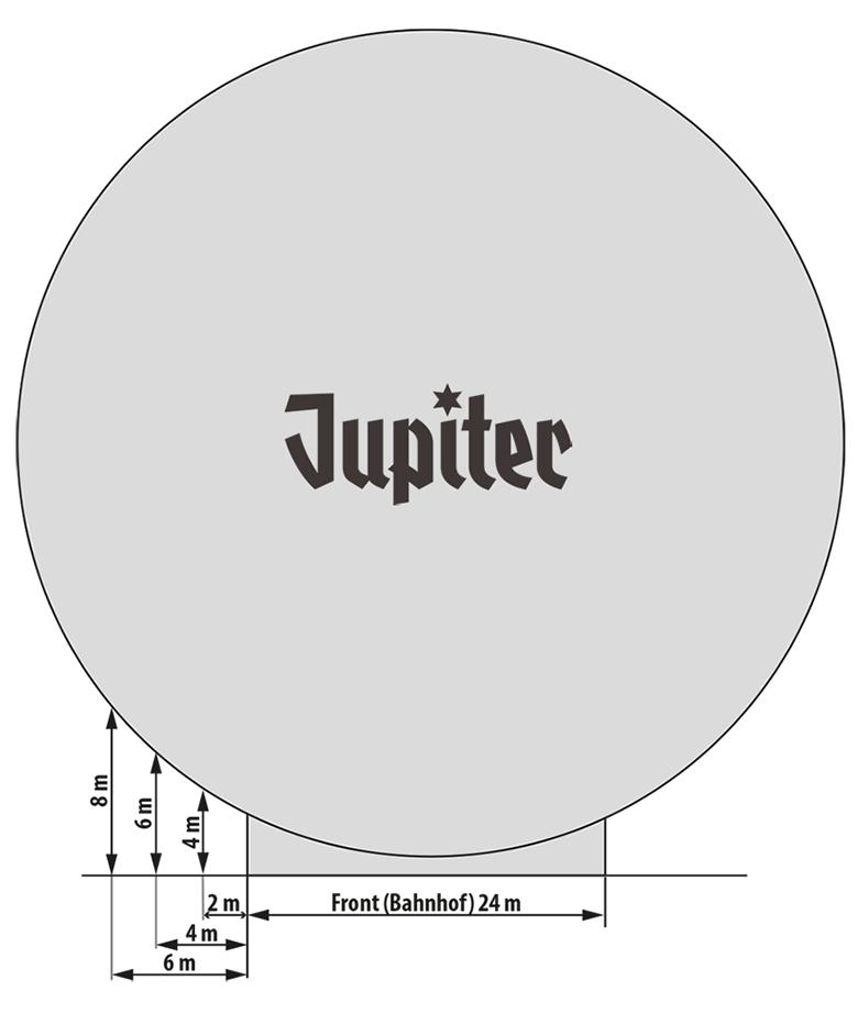 Jupiter Riesenrad seitlicher Ausschwung